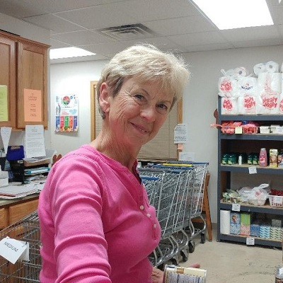 Okla stocking the Food Pantry